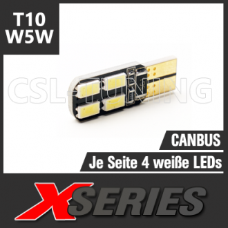 X-SERIES 8 LED SMD5630 (T10 / W5W) CANBUS Leuchtmittel
