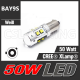 50W (BAY9S) CREE HighPower LED Lampe Leuchtmittel