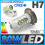 80W (H7) CREE HighPower LED Lampe Leuchtmittel