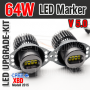 64W CREE V5 Angel Eyes LED Marker (BMW 3er E90 E91 Facelift LCI mit Halogen Scheinwerfer)