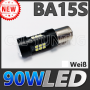 90W (27 LED) SMD5630 (BA15S) Leuchtmittel Canbus (Weiß)