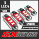 SX-SERIES 3 LED SMD5630 (SV8,5 / C5W) 42MM CANBUS Soffitte Lampe Leuchtmittel